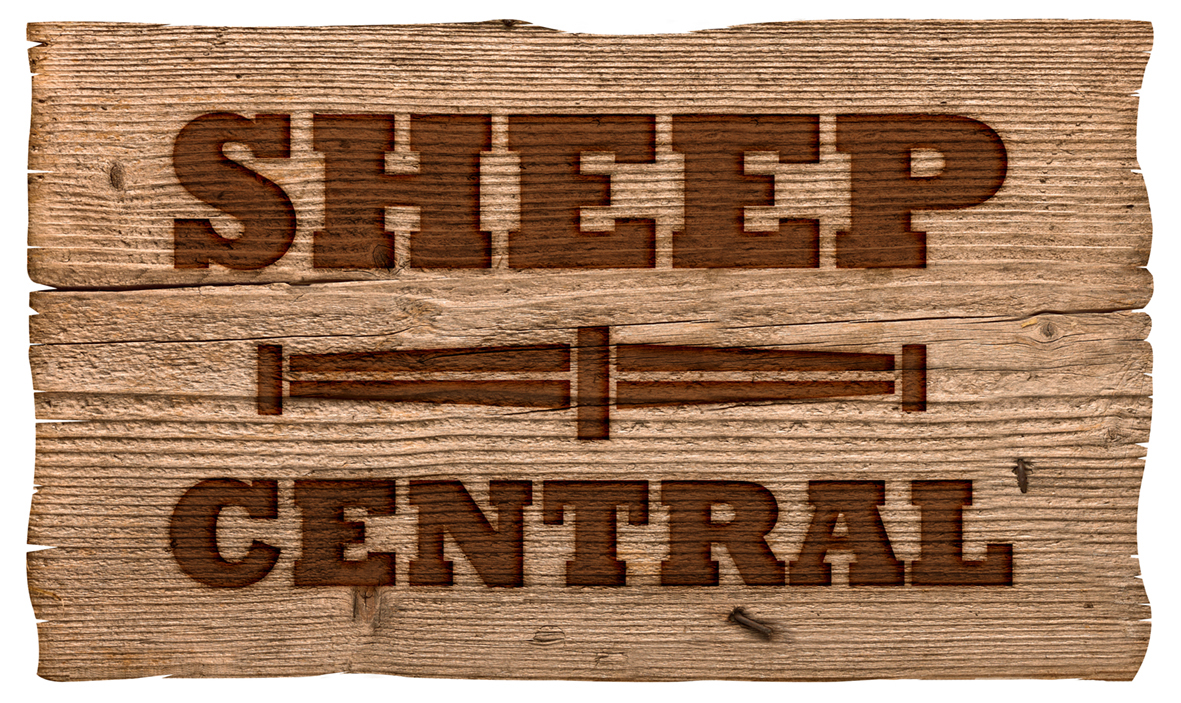 Sheep Central Logo Timber